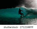 a backlit and silhouetted image ...   Shutterstock . vector #271218899