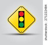 traffic light over yellow sign...   Shutterstock .eps vector #271222484