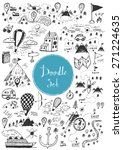big doodle set   travel  camping | Shutterstock .eps vector #271224635