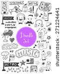 big doodle set   music | Shutterstock .eps vector #271224641