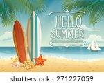 vector summer background with... | Shutterstock .eps vector #271227059