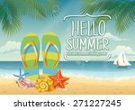vector summer background with... | Shutterstock .eps vector #271227245