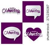 beautiful set of happy monday...   Shutterstock .eps vector #271230287