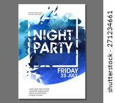 summer night party vector flyer ... | Shutterstock .eps vector #271234661