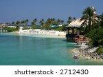 tropical lagoon and resort | Shutterstock . vector #2712430