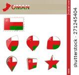 oman flag set  flag set  144.... | Shutterstock .eps vector #271245404