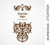 vector lace pattern in... | Shutterstock .eps vector #271247024