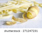 Potatoes With Peel And Chips On ...