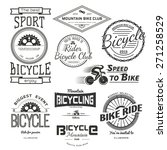bicycle badges logos and labels ... | Shutterstock .eps vector #271258529