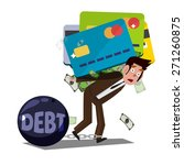 man carrying huge credit card... | Shutterstock .eps vector #271260875
