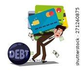 man carrying huge credit card... | Shutterstock .eps vector #271260875