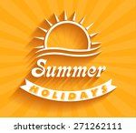 retro summer holidays  labels... | Shutterstock .eps vector #271262111
