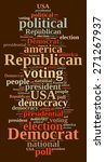 word cloud on elections... | Shutterstock . vector #271267937