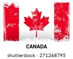 canada grunge flag isolated... | Shutterstock .eps vector #271268795