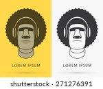 moai   afro hair with headphone ...   Shutterstock .eps vector #271276391