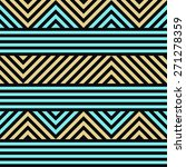 seamless geometric striped... | Shutterstock .eps vector #271278359