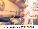 motion blur chefs of a... | Shutterstock . vector #271280309