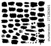 black ink vector brush strokes...   Shutterstock .eps vector #271282601