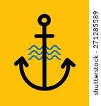 anchor logo icon. single weight ... | Shutterstock .eps vector #271285589