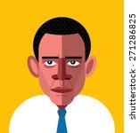 barack obama portrait. vector... | Shutterstock .eps vector #271286825