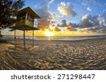 fisheye view of sunrise over... | Shutterstock . vector #271298447