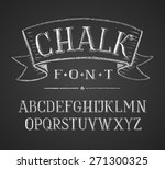 linear letters and numbers. .... | Shutterstock . vector #271300325