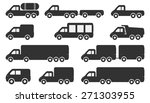 cartoon car icons silhouetted.... | Shutterstock .eps vector #271303955
