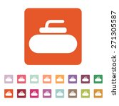 the stone for curling icon.... | Shutterstock .eps vector #271305587