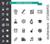 school icon set   16 icon set | Shutterstock .eps vector #271306931