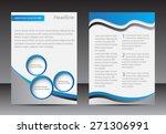 abstract brochure design.flyer... | Shutterstock .eps vector #271306991