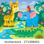 animals topic image 1   eps10... | Shutterstock .eps vector #271308401