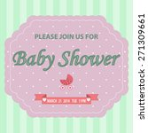 baby shower background with... | Shutterstock . vector #271309661
