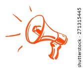 vector megaphone marker sketch | Shutterstock .eps vector #271315445