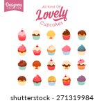 20 delicious yummy vector... | Shutterstock .eps vector #271319984