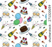 vector color birthday seamless... | Shutterstock .eps vector #271320059
