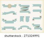 ribbon banner vector... | Shutterstock .eps vector #271324991
