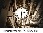 closeup clock at the sky train... | Shutterstock . vector #271327151
