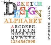 vector sketch design alphabet | Shutterstock .eps vector #27132787