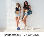 fashion women friends wearing... | Shutterstock . vector #271340831