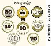 vintage 20 anniversary... | Shutterstock .eps vector #271345601