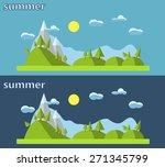 flat design nature landscape... | Shutterstock . vector #271345799