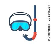 diving goggles mask. isolated...