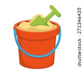 bucket kids toy. isolated icon...