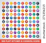 mega food and cooking flat icon ...