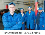 teamwork  group of engineers... | Shutterstock . vector #271357841