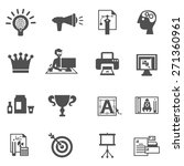 branding icons black set with...