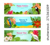 happy time hawaii islands... | Shutterstock .eps vector #271361009