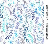 pattern of flowers and grasses... | Shutterstock .eps vector #271362305
