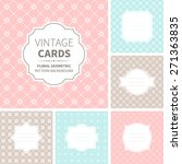 vector set of vintage cards.... | Shutterstock .eps vector #271363835