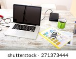 business analytics with a data... | Shutterstock . vector #271373444